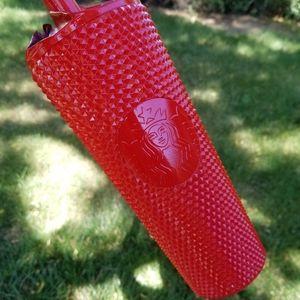 🆕️Starbucks, Custom, Apple Red Studded Tumbler